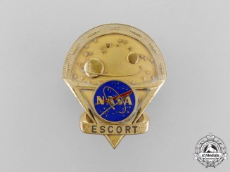 An American National Aeronautics and Space Administration (NASA) Escort Badge