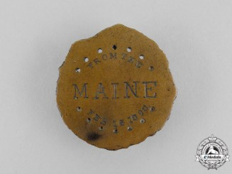 A Cuban Revolt Against Spain and Spanish-American War Igniting USS Maine Medal