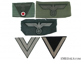 Lot of German Army Cloth Insignia