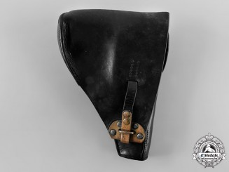 Netherlands, Kingdom. An FN Browning Model 1910, 1922 Leather Pistol Holster