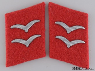 Luftwaffe Anti-Aircraft Gefreiter Collar Tab Set