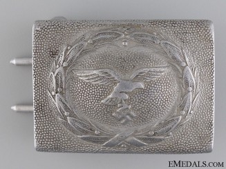 Luftwaffe Enlisted Man's Belt Buckle; 2nd Pattern by Frank & Reif