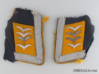 Luftwaffe Oberfeldwebel Pilot Uniform Removed Tabs