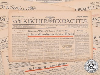 Germany. Nine Consecutive Issues of NSDAP Propaganda Newspaper 1944