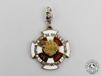 Serbia, Kingdom. A Rare Miniature Badge of the Serbian Volunteer Corps, c.1942