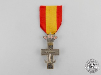 Spain, Kingdom. An Order of Naval Merit, Silver Cross, c.1918