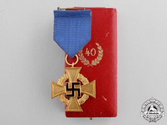 Germany. A Cased 40-Year Civil Faithful Service Cross by Deschler & Sohn