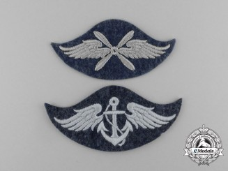Germany. Two Mint Luftwaffe Trade Specialist Qualification Patches