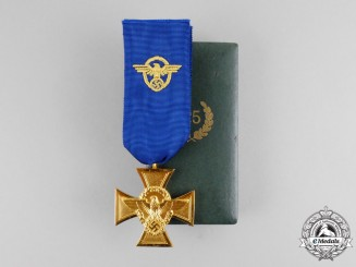 Germany. A Mint Police 25-Year Long Service Cross with Case