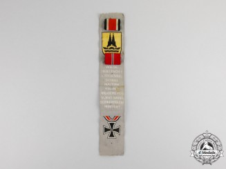 Germany. A Third Reich Period Event Ribbon with Two Ribbon Bars