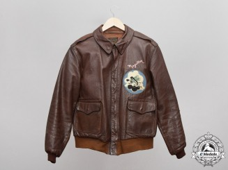 United States. A B-17 8th USAAF A-2 Flight Jacket, Named to Lieut. Wright, The Reich Wreckers