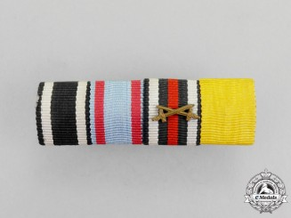 Germany. A First War Period Hesse Honour Decoration Ribbon Bar