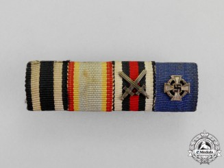 Germany. First and Second War Period Mecklenburg-Schwerin War Merit Cross Ribbon Bar