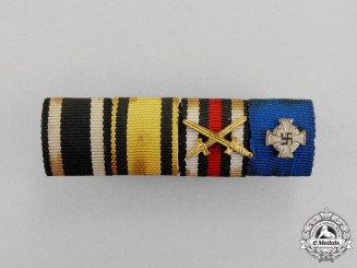 Germany. A First and Second War Period Wurtemberg Miltiary Merit Ribbon Bar