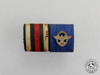 Germany. A First and Second War Period Police Long Service Ribbon Bar