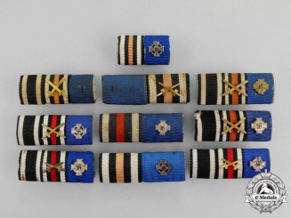 Germany. A Grouping of Ten First and Second War German Medal Ribbon Bars