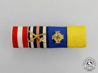 Germany. A First and Second War German 40-Year Civilian Long Service Medal Ribbon Bar