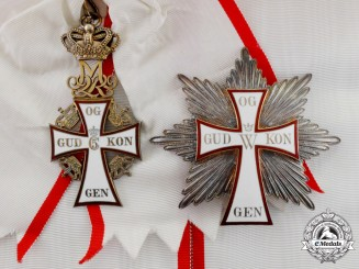 Denmark. An Order of Dannebrog, 1st Class Grand Cross Set, c.1975