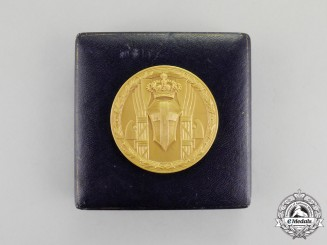 Italy. A Rowing Federation Fiftieth Anniversary Commemorative Medal 1888-1938, Cased
