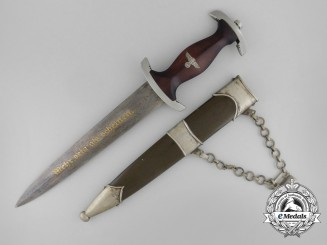 Germany. An Exceptional Prototype of an NPEA High Leader's Damascus Blade Dagger