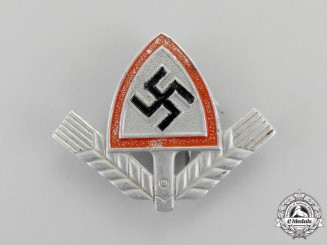 Germany. An RAD (National Labour Service) Cap Badge by F. W. Müller
