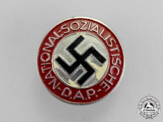 Germany. A NSDAP Party Member's Lapel Badge by Gustav Brehmer of Markneukirchen