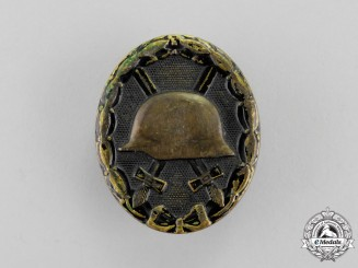 Germany. A Black Grade Wound Badge; Denazified