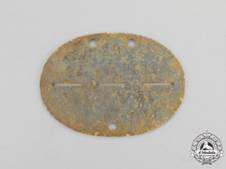 Germany. A Second War Period Volunteer Artillery Regiment Identification Tag