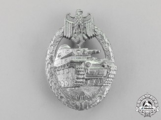 Germany. A Silver Grade Tank Badge by Steinhauer & Lück