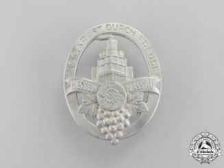 Germany. A Third Reich Period KDF (Strength Through Joy) Harvest Celebration BadgeG
