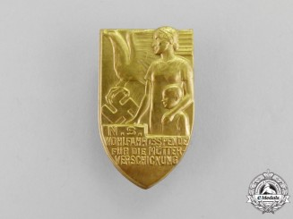 Germany. Third Reich Period National Socialist People's Welfare for Mother & Child Badge