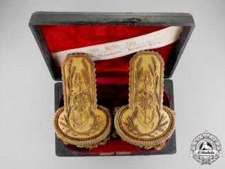 An Italian-Made Set of Argentinian Naval Admiral Epaulettes, c.1915