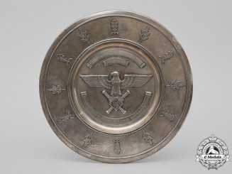 Germany, Luftwaffe. A Honor Salver Distinguished Achievement Awarded to Unteroffizier Emil Reher