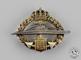 Yugoslavia, Kingdom. A Submariner's Badge M 1937