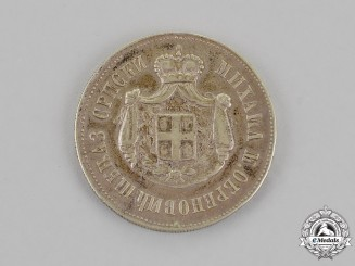 Serbia, Kingdom. Commemorative Medal of Mihailo Obrenović 1868