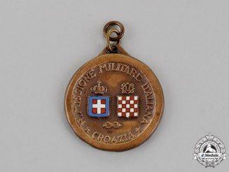 Italy, Fascist State. A Medal of the Italian Military Mission in Croatia (NDH), c.1942