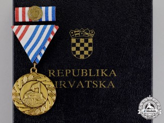Croatia. A Storm (Oluja) Medal 1995 in Case