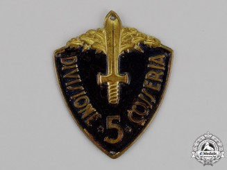 "Italy. A 5th Infantry Division ""Cosseria"" (5° Divisione Cosseria) Sleeve Badge"
