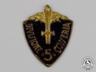 "Italy. A 5th Infantry Division ""Cosseria"" (5° Divisione Cosseria) Sleeve Badge"