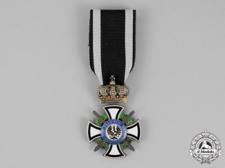 Prussia. A Royal Houseorder of Hohenzollern, Knight's Cross with Swords, by Godet & Sohn