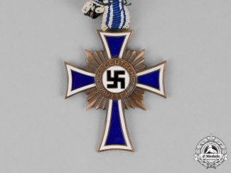 Germany. A Cross of Honour of the German Mother, Third Class in Bronze