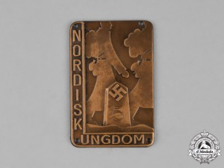 Sweden. A Nordic National Socialist Youth Movement Badge