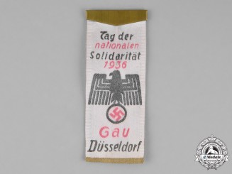 Germany. A 1936 Düsseldorf Region Day of National Solidarity Banner Badge