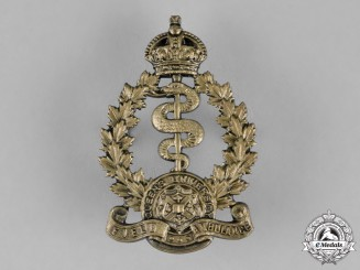"Canada. A 2nd Canadian Field Ambulance ""Queen's University Field Ambulance"" Cap Badge, Scarce"