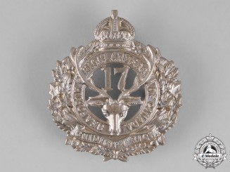 "Canada. A 17th Infantry Battalion ""Nova Scotia Highlanders, Seaforth Highlanders of Canada"" Glengarry Badge"