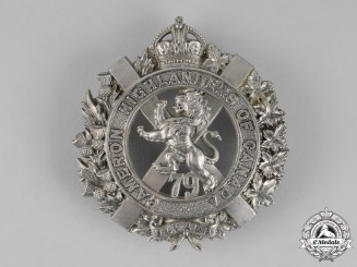 Canada. A 79th Cameron Highlanders of Canada Bonnet Badge, c.1910