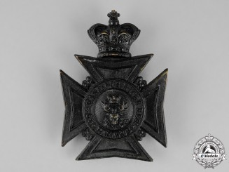 Canada. A Victorian 49th Hastings Battalion of Rifles Helmet Plate, c.1900