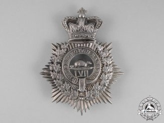 Canada. A Victorian 57th Battalion of Infantry Peterborough Rangers Helmet Plate, c.1879