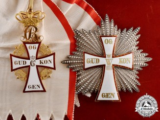 Denmark, Kingdom. An Order of Dannebrog in Gold, 1st Class Grand Cross, by A.Michelsen, c.1912