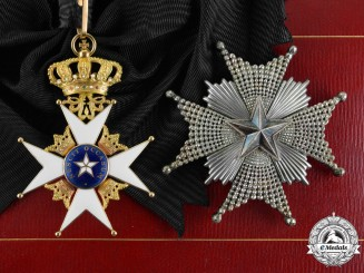 Sweden, Kingdom. An Order of the North Star, 1st Class Grand Cross, by C.F. Carlman, c.1913